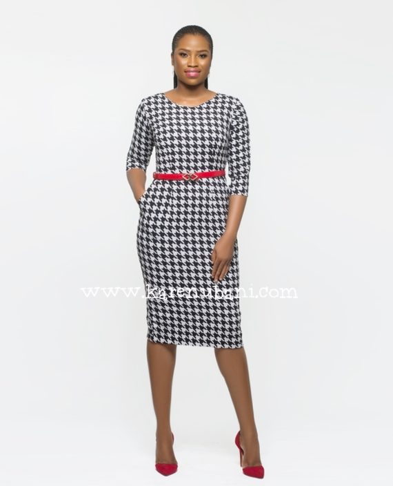 Irene Dress In Houndstooth 2