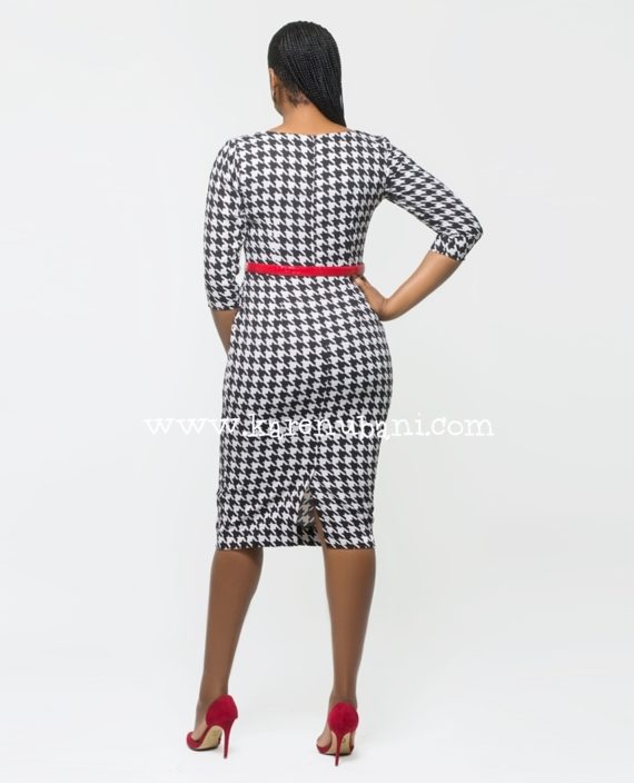 Irene Dress In Houndstooth 3