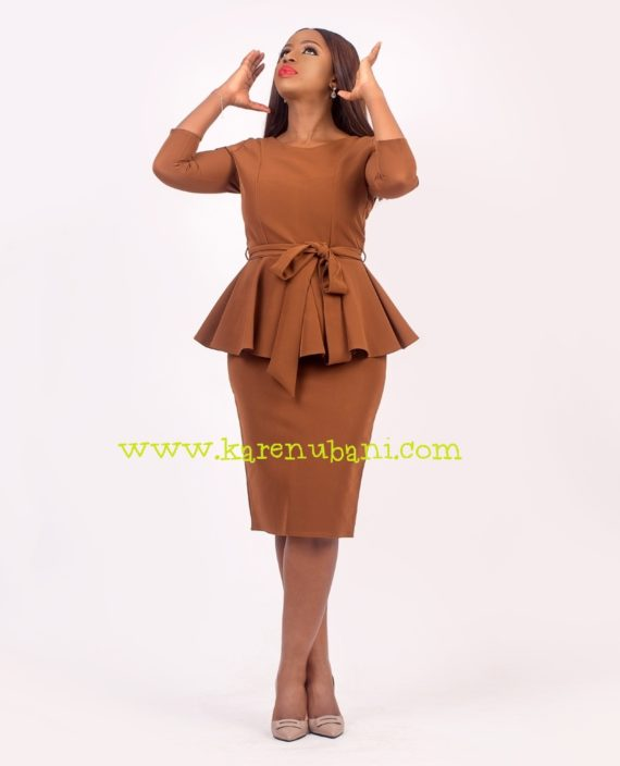 Brown Two Piece With Princess Darts 1