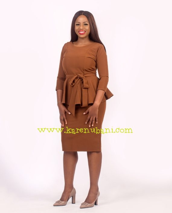Brown Two Piece With Princess Darts 3