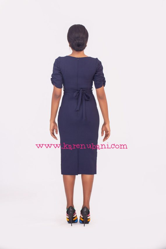 The Maxim Dress- Navy & Colbalt 2
