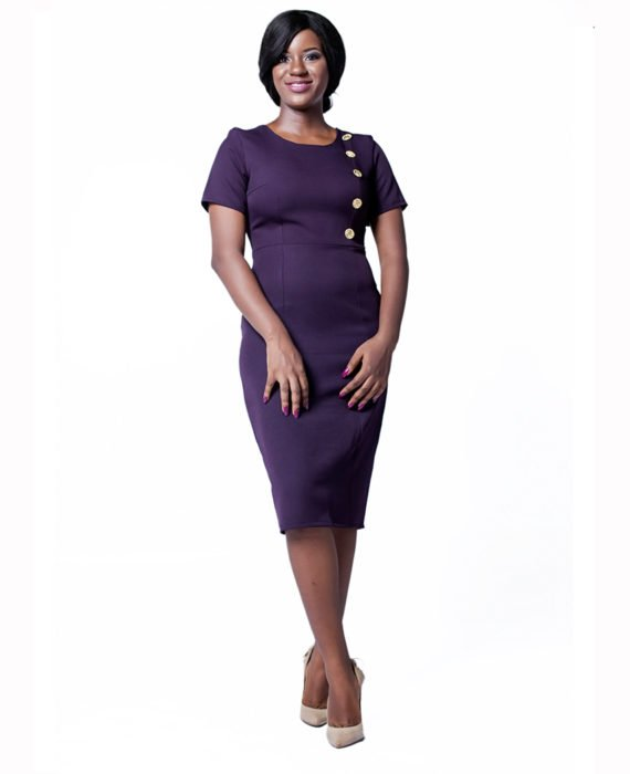 The Blackcurrant Purple Pencil Dress 1