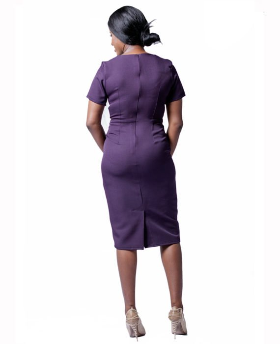 The Blackcurrant Purple Pencil Dress 3