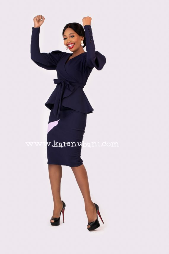 Keisha Two-Piece In Navy 3