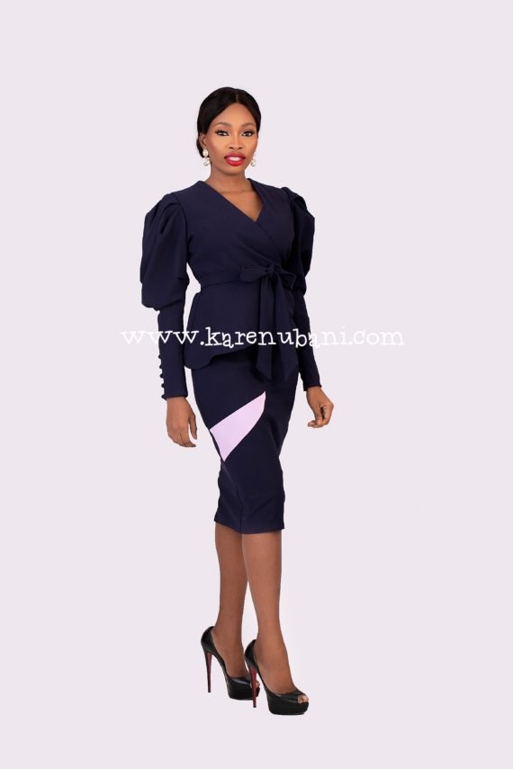 Keisha Two-Piece In Navy 1