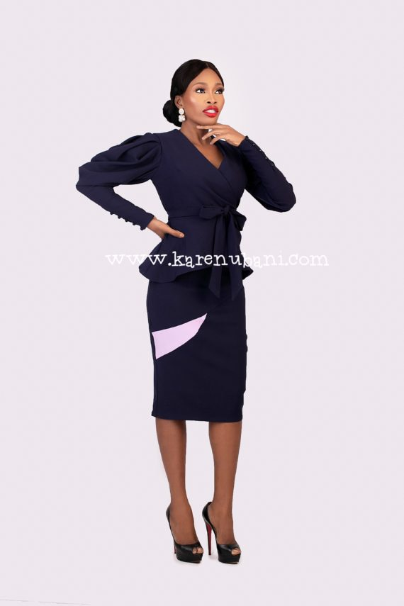 Keisha Two-Piece In Navy 4