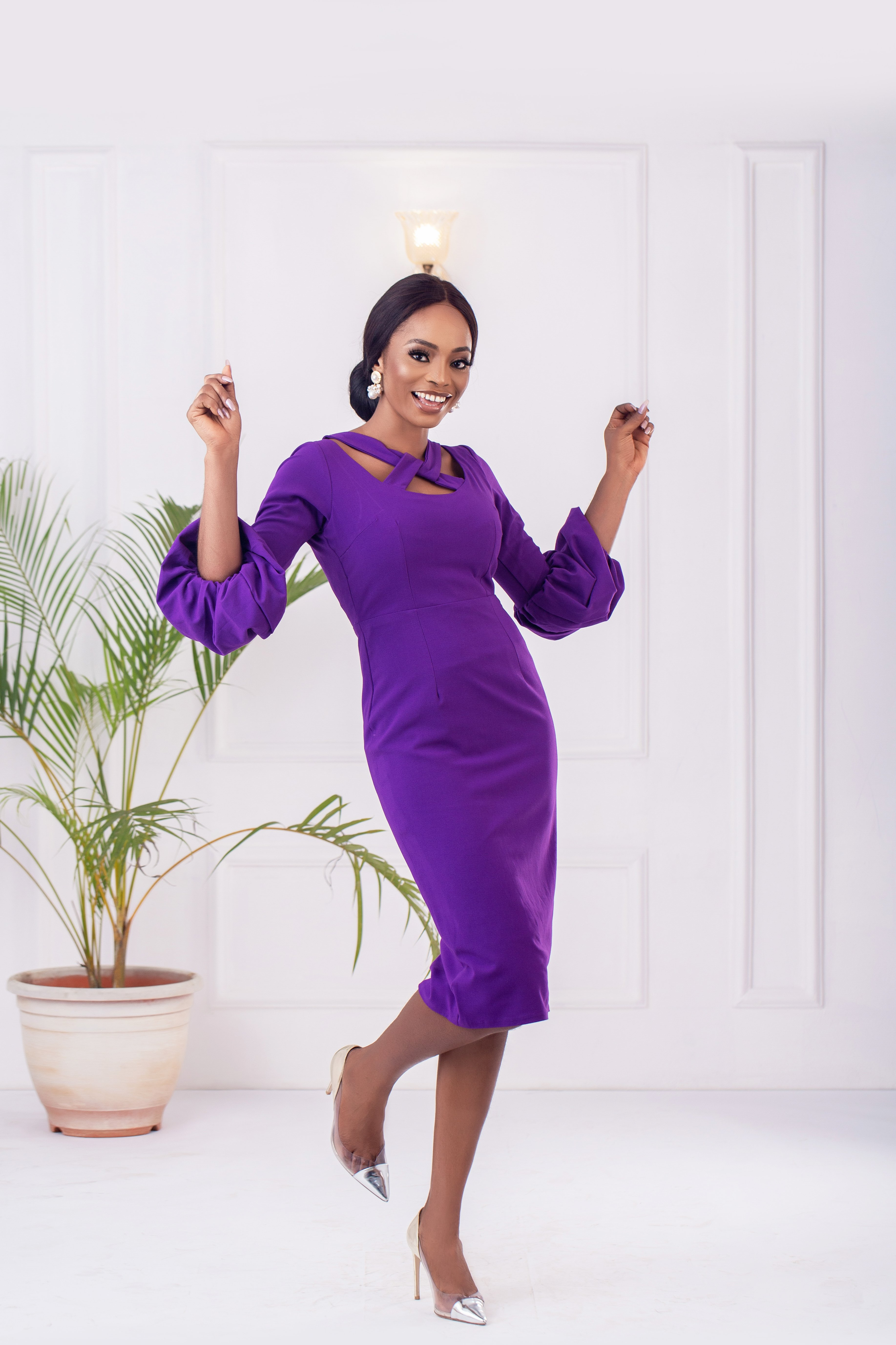 The Zaire Dress In Violet 2