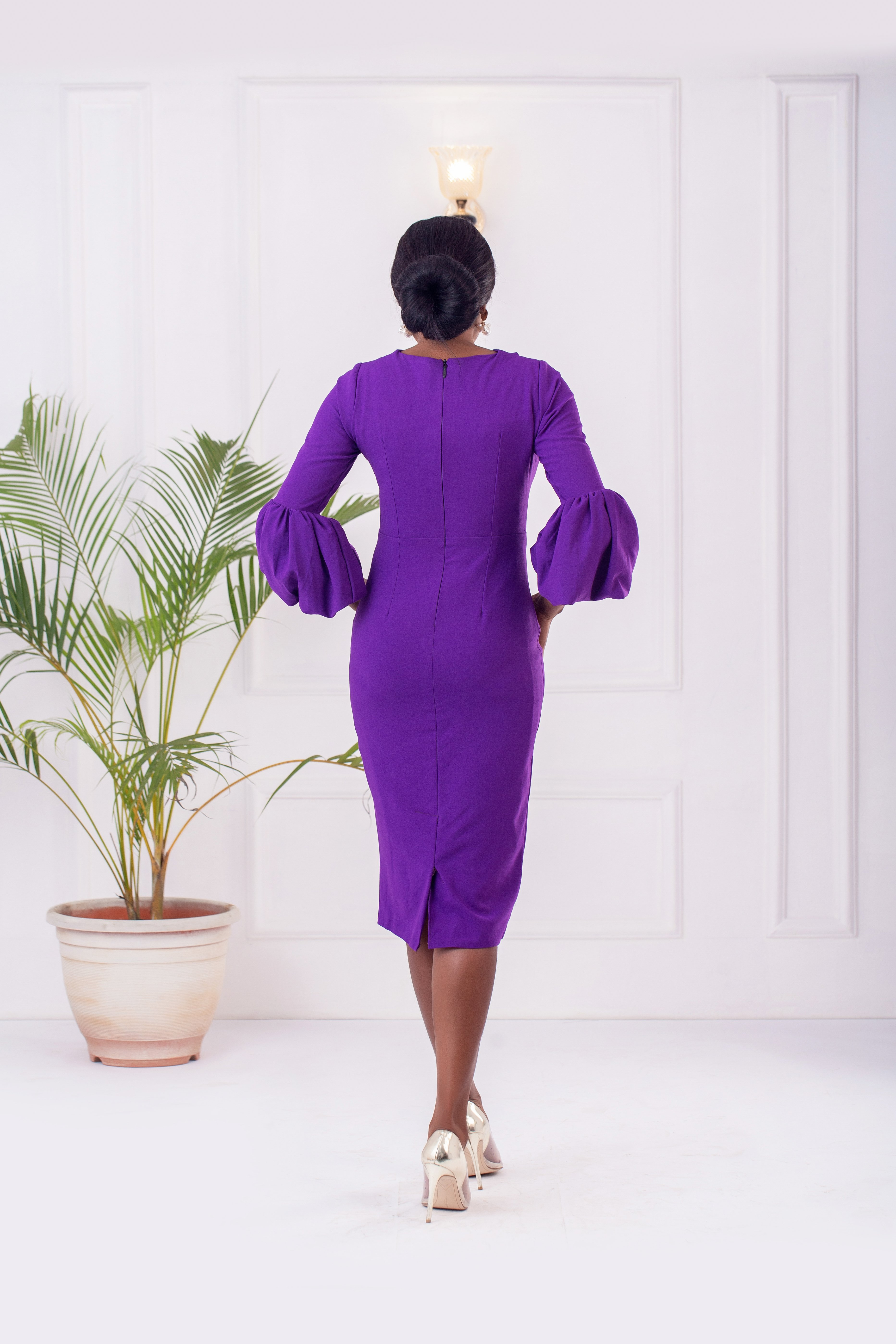 The Zaire Dress In Violet 3