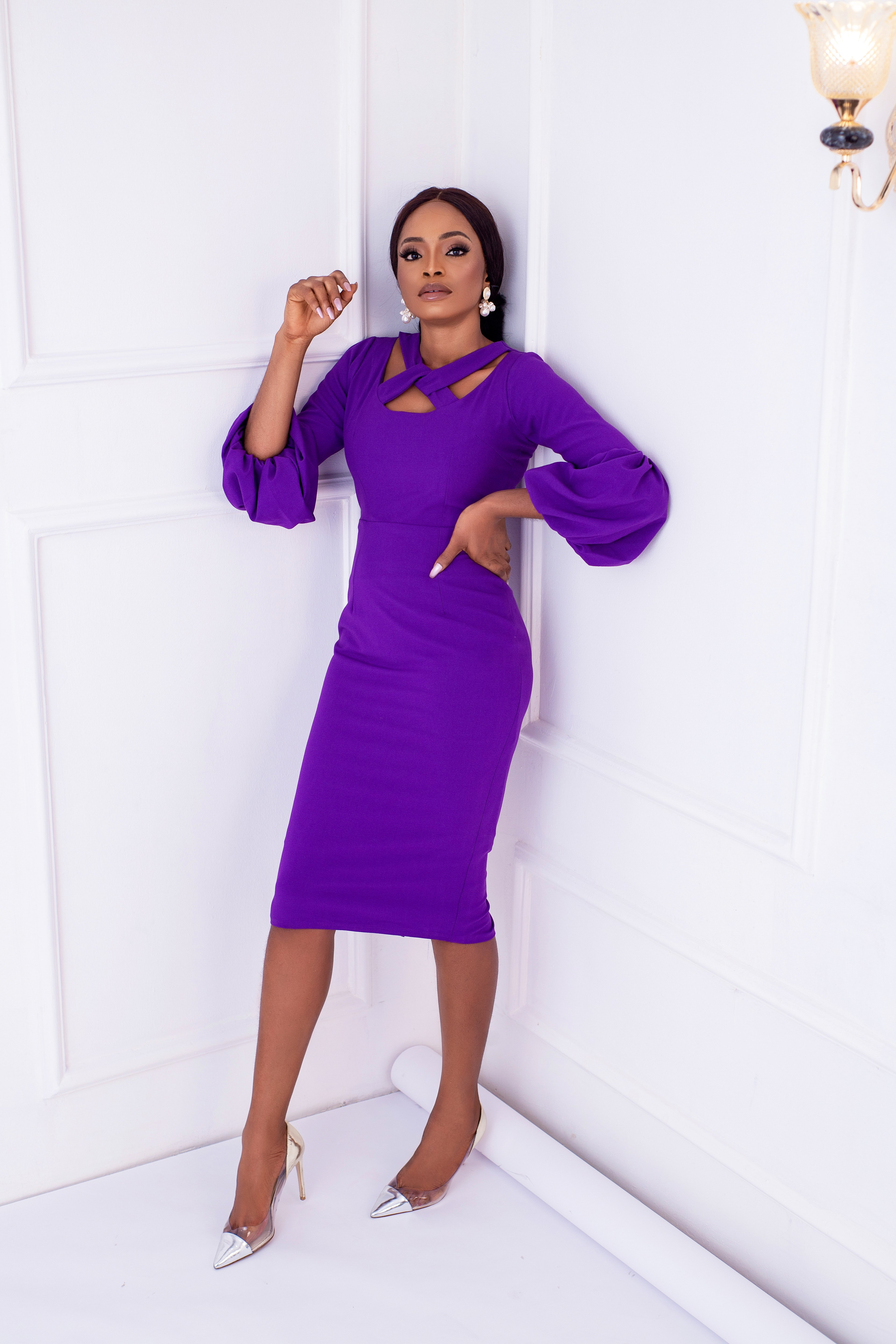 The Zaire Dress In Violet 1